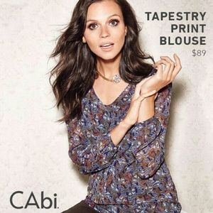 CAbi Tapestry Limited Edition Multi-Color Top-M